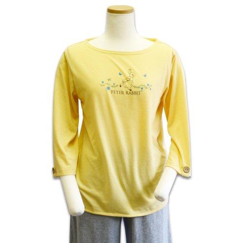 7分袖ボートネックTシャツ(クリーム) L 301144-21 PR