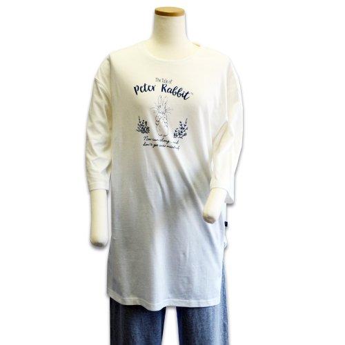 7分袖ビッグTシャツ(オフホワイト) LL 301146-12 PR