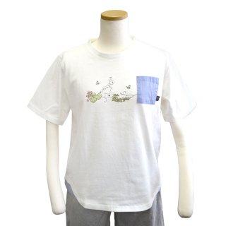 ポケット付Tシャツ(オフホワイト) L 302102-12 PR