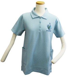ポケット付ロングポロシャツ(サックス) L 302103-81 PR
