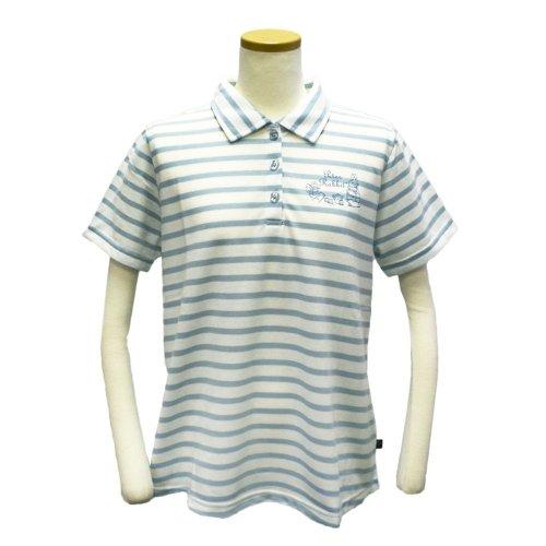 ボーダーロングポロシャツ(サックス) L 302104-81 PR