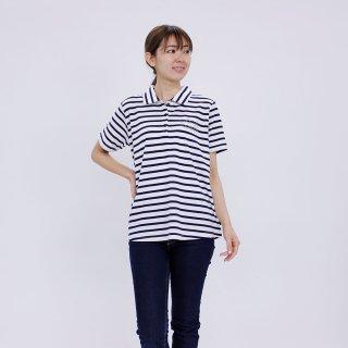 ボーダーロングポロシャツ(ネイビー) M 302104-84 PR