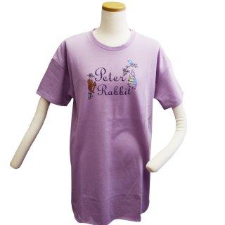 ロゴプリントBIG Tシャツ(ライトパープル) L 302105-72 PR