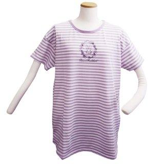 ボーダーBIG Tシャツ(ライトパープル) L 302106-72 PR