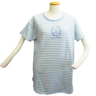 ボーダーBIG Tシャツ(サックス) L 302106-81 PR