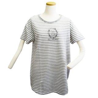 ボーダーBIG Tシャツ(杢グレー)M 302106-93 PR