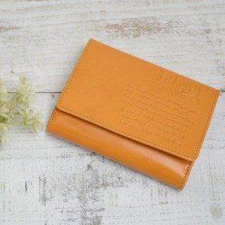 二つ折り財布(LETTERS)キャメル 85090 PR