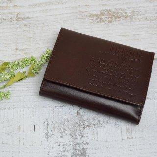 二つ折り財布(LETTERS)チョコ 85090 PR