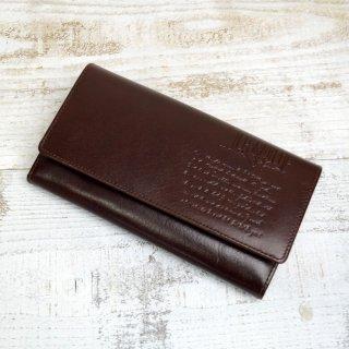 束入長財布(LETTERS)チョコ 85091 PR