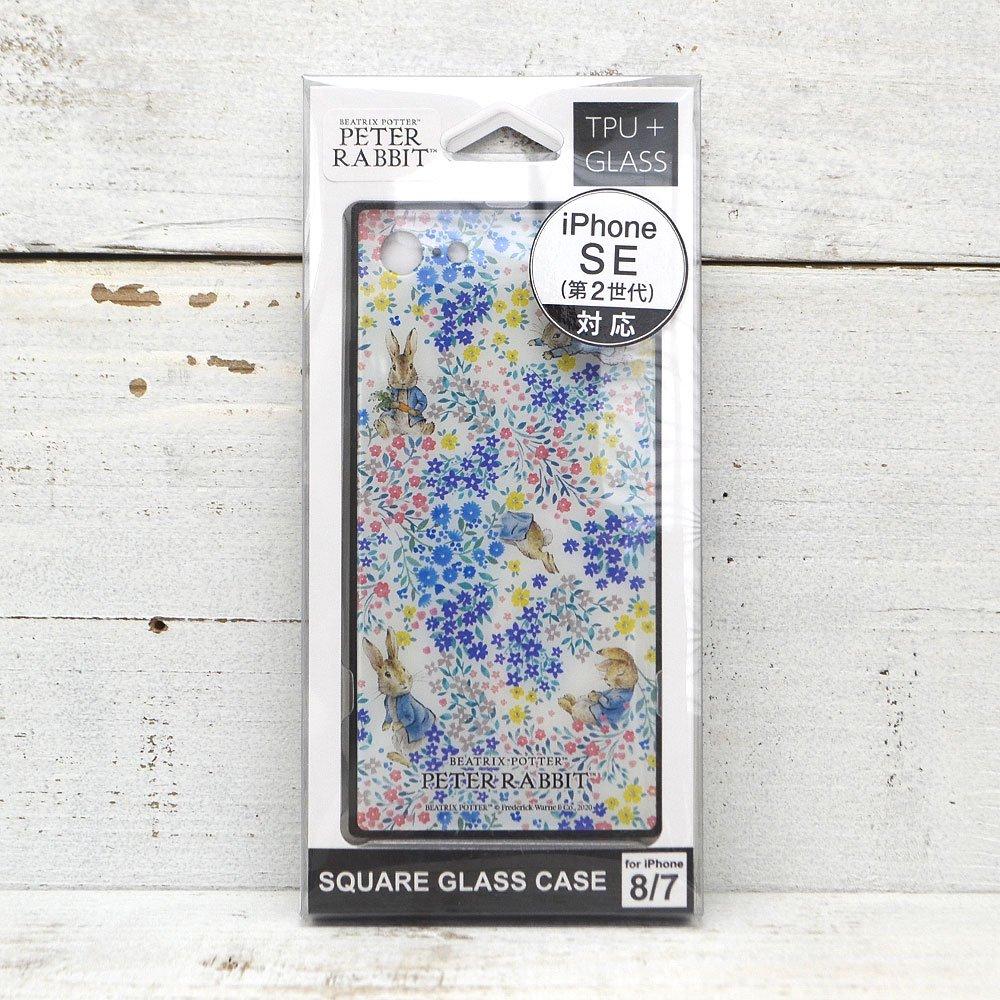 ピングー iPhone SE第2世代/8/7対応スクエアガラスケース (フラワー) PR-50B PR