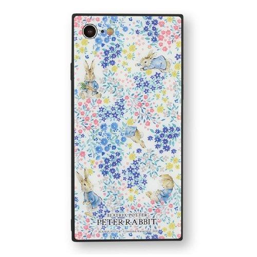iPhone SE第2世代/8/7対応スクエアガラスケース (フラワー) PR-50B PR