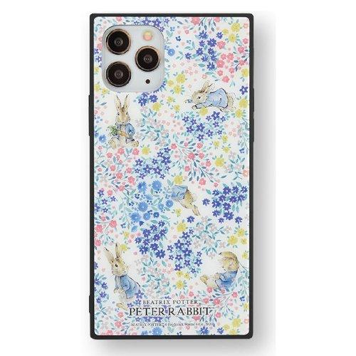 iPhone 11pro対応スクエアガラスケース(フラワー)PR-51B PR