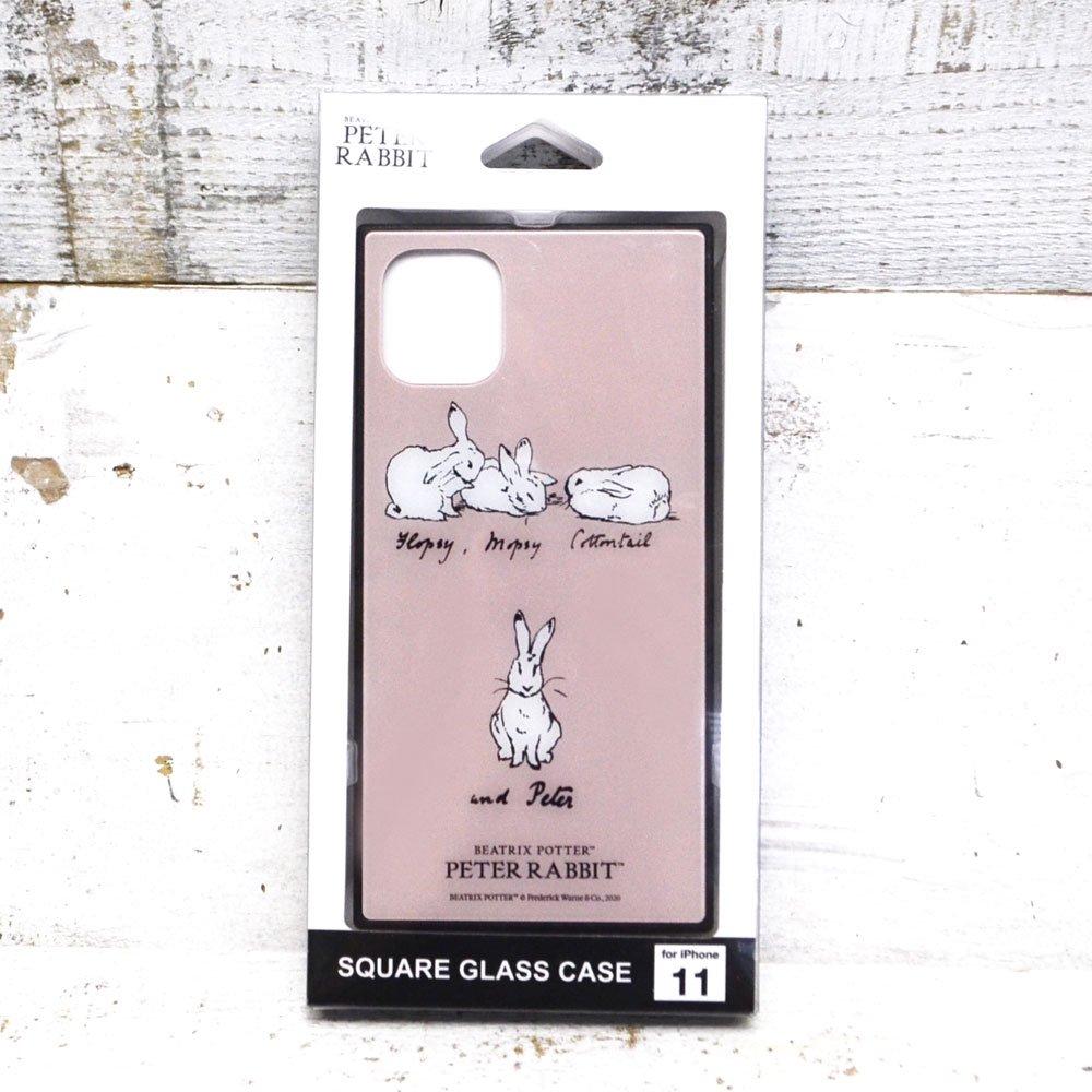 ピングー iPhone 11/XR 対応スクエアガラスケース(ラインアート)PR-52A PR
