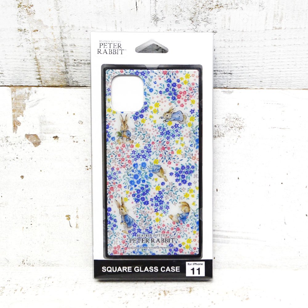 ピングー iPhone 11/XR 対応スクエアガラスケース(フラワー)PR-52B PR