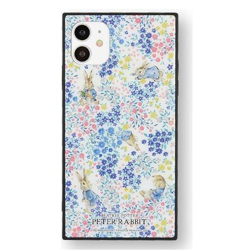 iPhone 11/XR 対応スクエアガラスケース(フラワー)PR-52B PR