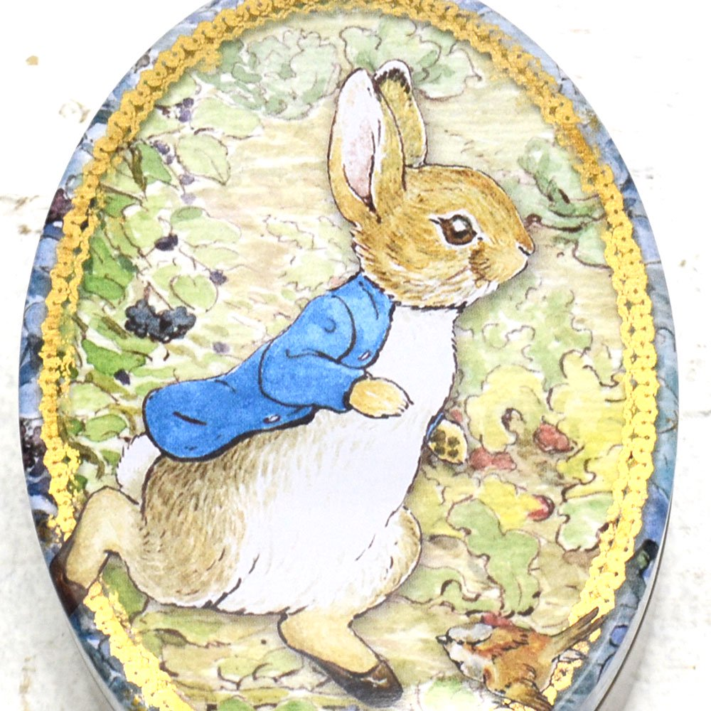 ピングー <img class='new_mark_img1' src='https://img.shop-pro.jp/img/new/icons11.gif' style='border:none;display:inline;margin:0px;padding:0px;width:auto;' />Peter Rabbit  Oval Tin BP3435 PR