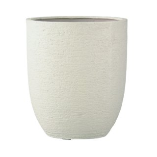 ビアス アルトエッグ 43 x H 50 cm / 軽量 / 植木 鉢 プランター 【 アイボリー 】 / 送料無料