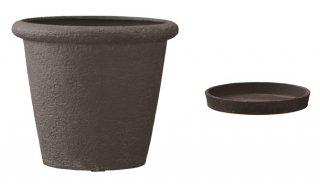 【 専用受皿 付き 】 ビアス リムス 46 x H 40 cm / 軽量 / 植木 鉢 プランター 【 ブラック 】 / 送料無料