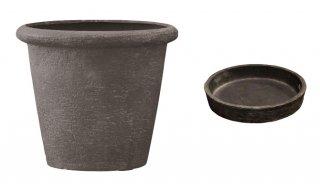 【 専用受皿 付き 】 ビアス リムス 46 x H 40 cm / 軽量 / 植木 鉢 プランター 【 グレー 】 / 送料無料