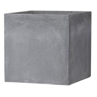 バスク キューブ 40 cm / 軽量 コンクリート / 植木 鉢 プランター 【 グレー 】 / 送料無料