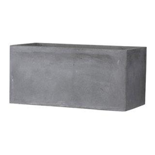 バスク プランター L 60 cm / 軽量 コンクリート / 植木 鉢 プランター 【 グレー 】 / 送料無料