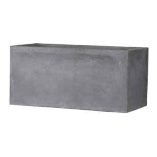 バスク プランター L 100 cm / 軽量 コンクリート / 植木 鉢 プランター 【 グレー 】 / 送料無料
