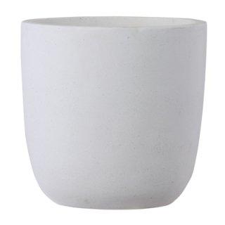 バスク ラウンド 43 cm / 軽量 コンクリート / 植木 鉢 プランター 【 ホワイト 】 / 送料無料