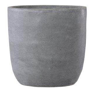 バスク ラウンド 51 cm / 軽量 コンクリート / 植木 鉢 プランター 【 グレー 】 / 送料無料