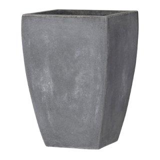 バスク スクエアー 35 cm / 軽量 コンクリート / 植木 鉢 プランター 【 グレー 】 / 送料無料