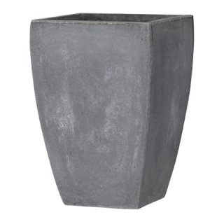 バスク スクエアー 44 cm / 軽量 コンクリート / 植木 鉢 プランター 【 グレー 】 / 送料無料