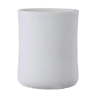 バスク ミドル 37 cm / 軽量 コンクリート / 植木 鉢 プランター 【 ホワイト 】 / 送料無料