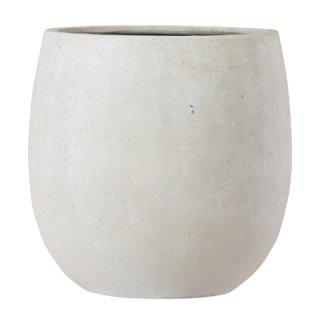 テラニアス バルーン アンティーク 42 cm / 軽量 / 植木 鉢 プランター 【 ホワイト 】 / 送料無料