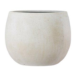 テラニアス ローバルーン アンティーク 55 cm / 軽量 / 植木 鉢 プランター 【 ホワイト 】 / 送料無料
