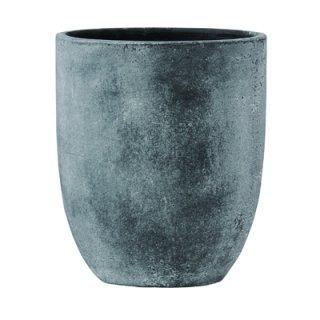 フォリオ アルトエッグ 43 x H 50 cm / 軽量 コンクリート / 植木 鉢 プランター  【 ブラック ウォシュ 】 / 送料無料