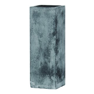 フォリオ クアドラ 22 x H 65 cm / 軽量 コンクリート / 植木 鉢 プランター  【 ブラック ウォシュ 】 / 送料無料