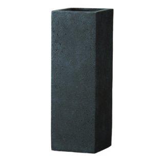 フォリオ クアドラ 22 x H 65 cm / 軽量 コンクリート / 植木 鉢 プランター  【 ダーク ブラウン 】 / 送料無料