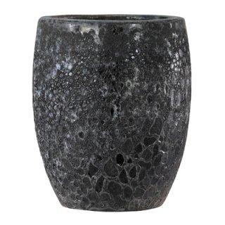ボルカーノ トールラウンド 35 cm / テラコッタ / 植木 鉢 プランター 【 ブラック 】 / 送料無料