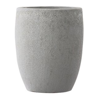 ボルカーノ トールラウンド 42 cm / テラコッタ / 植木 鉢 プランター 【 Mホワイト 】 / 送料無料
