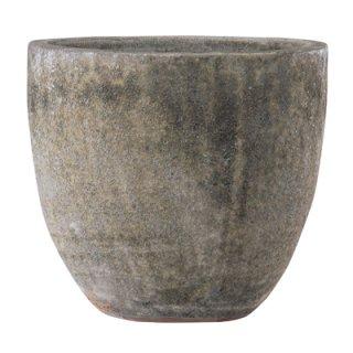 ボルカーノ ラウンド 46 cm / テラコッタ / 植木 鉢 プランター 【 Mホワイト 】 / 送料無料