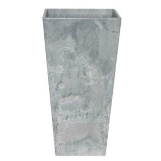 アートストーン トール スクエアー 40 x H 90 cm / 軽量 / 植木 鉢 プランター 【 グレー 】 / 送料無料