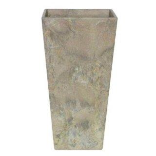 アートストーン トール スクエアー 26 x H 49 cm / 軽量 / 植木 鉢 プランター 【 ベージュ 】 / 送料無料