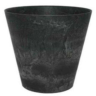 アートストーン ラウンド 37 cm / 軽量 / 植木 鉢 プランター 【 ブラック 】 / 送料無料