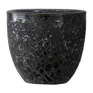 ボルカーノ ラウンド 33 cm / テラコッタ / 植木 鉢 プランター 【 ブラック 】 / 送料無料