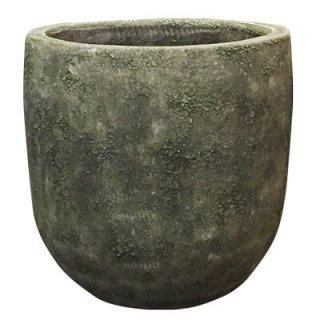 ボルカーノ ソルト ラウンド 30 cm / テラコッタ / 植木 鉢 プランター 【 グリーン 】 / 送料無料