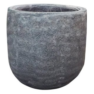 ボルカーノ ソルト ラウンド 43 cm / テラコッタ / 植木 鉢 プランター 【 ブルー 】 / 送料無料