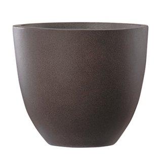 エルム ラウンド 33 cm / コンクリート / 植木 鉢 プランター 【 ブラウン 】  / 送料無料