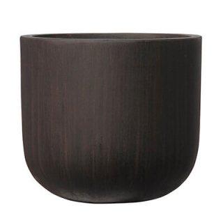 オーク Uポット アンティーク 40 cm / コンクリート / 植木 鉢 プランター【 ブラウン 】  / 送料無料