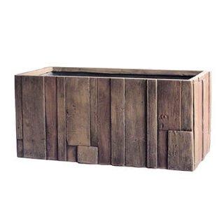 パターン プランター 80 cm / 軽量 コンクリート / 植木 鉢 プランター 【 アンティーク ウッド 】 / 送料無料
