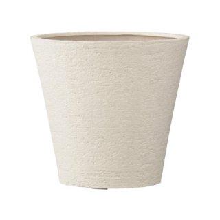 【 専用受皿 付き 】 ビアス ソリッド 31 x H 29 cm / 軽量 / 植木 鉢 プランター 【 アイボリー 】 / 送料無料
