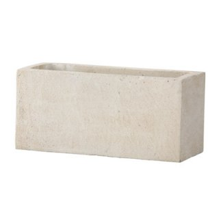 フォリオ プランター 48 x 19.5 x H 22 cm / 軽量 コンクリート / 植木 鉢 プランター 【 ホワイト 】 / 送料無料